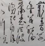丁仕美草书书法横幅,曹操《观沧海》